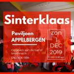 Sinterklaas komt op 1 december 2019